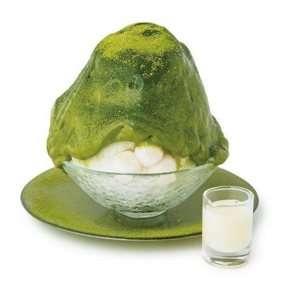 宇治抹茶氷エスプーマ仕立て(亀)¥950