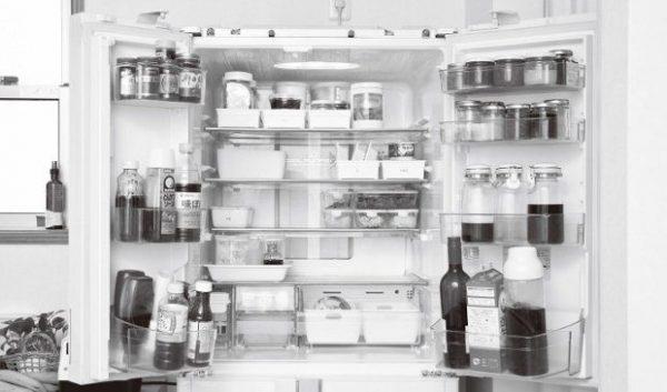 整理整頓された冷蔵室。