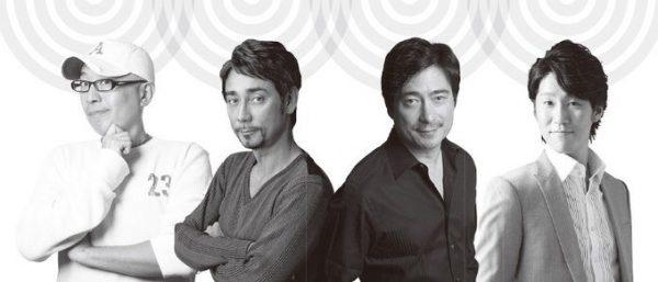 右から、谷中修吾さん、ジョン・カビラさん、クリス・ペプラーさん、ピストン西沢さん。