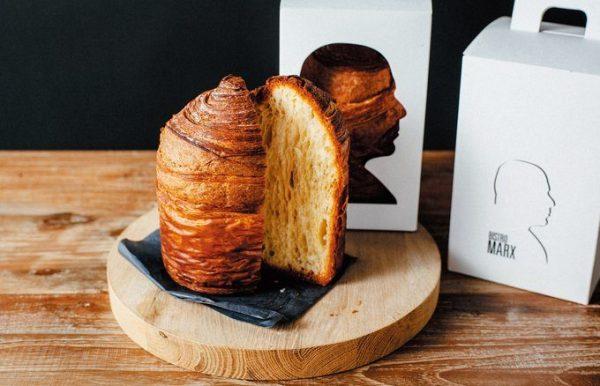 北海道産の小麦や発酵バターなど、素材と製法にこだわった看板メニューのブリオッシュ・フィユテ¥1,500。