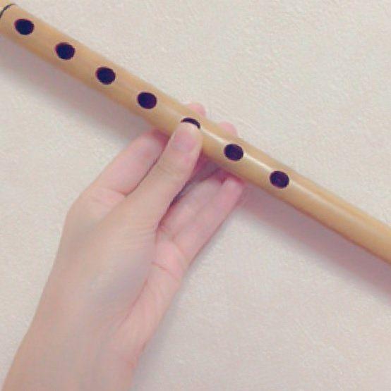 母の影響で始めた横笛が特技♪ オーディションではお囃子を披露しました。和太鼓も習っています。