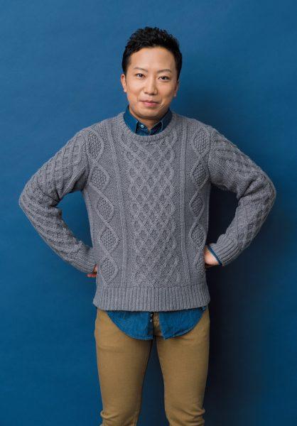 いちかわ・えんのすけ 四代目市川段四郎の長男として8歳から歌舞伎の舞台に立つ。昨年、制作を手がけたスーパー歌舞伎II『ワンピース』が大好評。来年11月、新橋演舞場で再演決定。ニット¥6,900(トランスコンチネンツ/ピーチ TEL:03・5411・2288) その他はスタイリスト私物