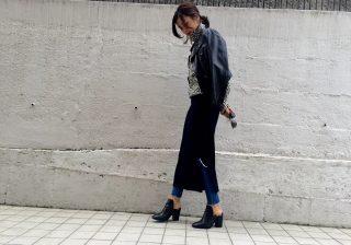 【トレンド感をキャッチ!】すっきり美ライン ♪ ユニクロのリブスカート! デイリーブランド着回し3Days #2