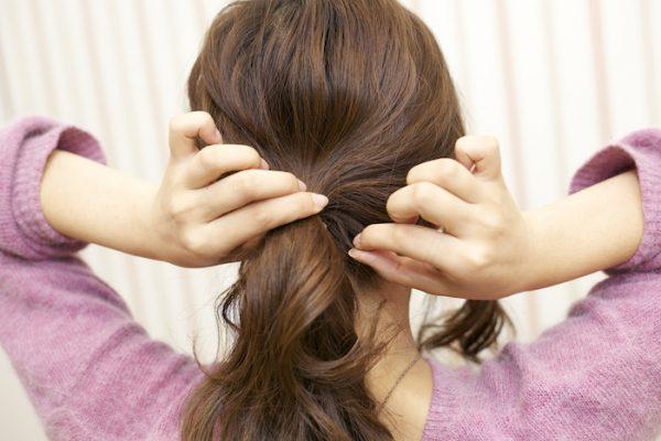 5:細かい毛束を引き出し立体感を出す。