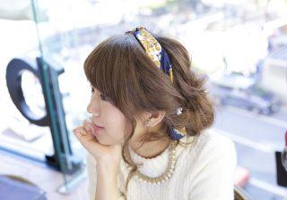 """【石原さとみさんになりたい♡】校閲ガール風♡""""スカーフを使ったヘアアレンジ""""をやってみた! #2"""