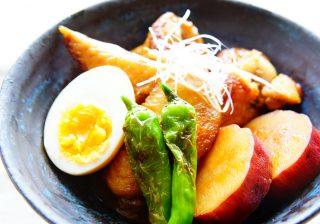 【ダルさ解消♪】黒酢でさっぱり! ホクホクおいしい♡ 『サツマイモと鶏手羽の黒酢煮』