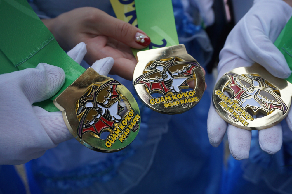 完走記念のメダルは旅の思い出に。