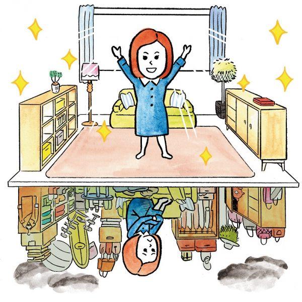 モノが減れば、スペースが生まれて部屋がスッキリ。気持ちも晴れやかに生まれ変わる!