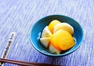 【肌荒れ&風邪予防に!】お正月に食べたい♪『柿とカブの紅白なます』!