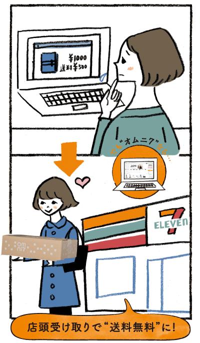 """こんなとき、オムニ7があってよかった! case3:送料がもったいなくてなかなかポチれない…店頭受け取りで""""送料無料""""に! 送料を気にせずお買い物できる!"""