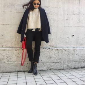 ざっくり感がかわいい♪ H&Mのウールチャンキーニットセーター! デイリーブランド着回し3Days #9