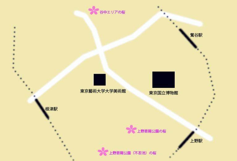 上野桜の地図