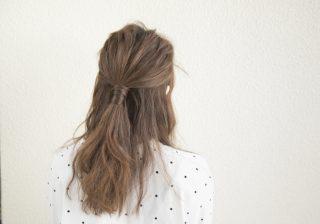 【ふんわり逆毛で華やか】10分で簡単ハーフアップをやってみた! #18