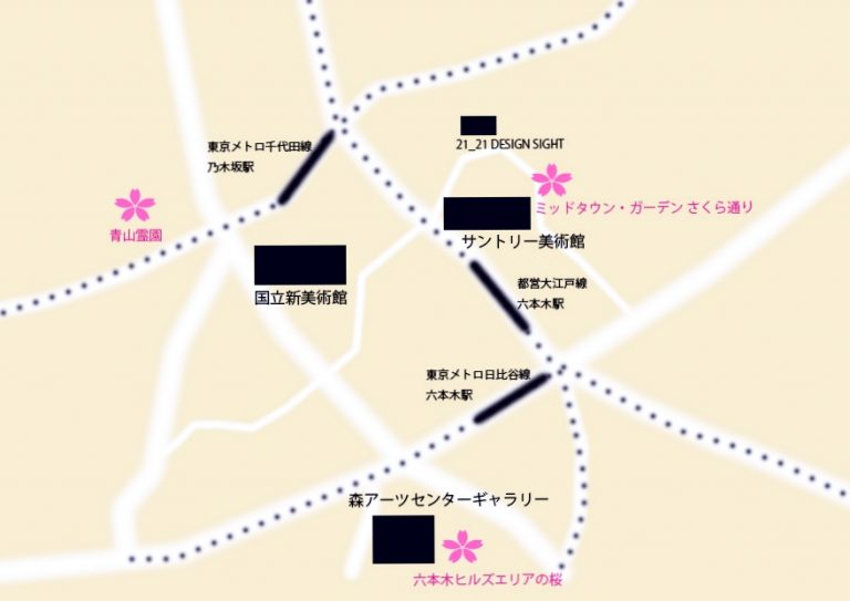 六本木桜地図