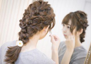 【ロングヘア簡単アレンジ♡】春はインスタジェニックな三つ編みスタイル! #22