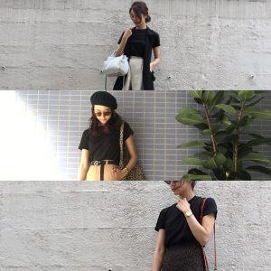 【カジュアルだけどシックな印象に】ユニクロ黒Tシャツの着こなし3選!|デイリーブランド着回し3Days #30