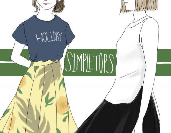 シンプルトップス