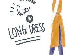 【真夏にマネしたい!】ツバ広ハットのキレイな着こなしコーデ|スタイリストの体型カバーテクニック術 #33