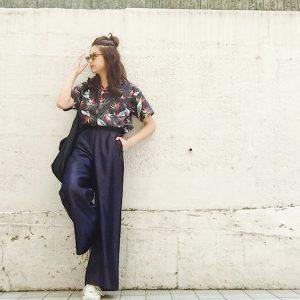 【上品な光沢感がいい!】ハイウエストサテンワイドパンツ着こなし3選!|デイリーブランド着回し3Days #31