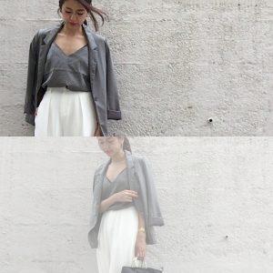 【艶感ある生地が大人っぽい!】H&Mのキャミソールトップスコーデ3選! |デイリーブランド着回し3Days #33