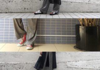 【サラッとした着心地が魅力的】H&Mのサテンワイドパンツを着まわし!|デイリーブランド着回し3Days #34