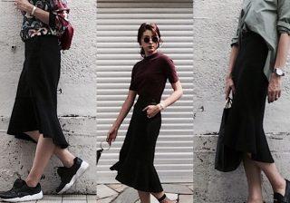 【秋のユニクロコーデ】女っぽミラノリブスカート着こなし3選!|デイリーブランド着回し3Days #38