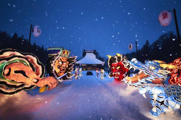【青森屋】ねぶた雪灯り