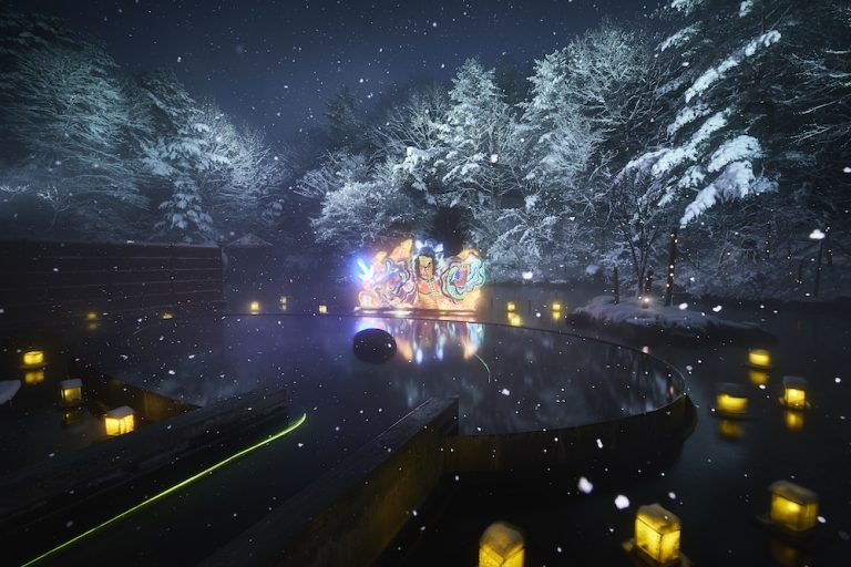 【青森屋】ねぶり流し灯篭2018 雪あり