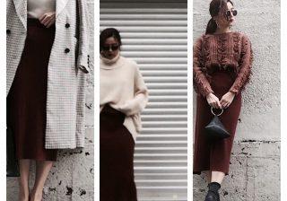 【美シルエットで脚長効果を】ユニクロのIラインスカート秋冬着こなし3選!|デイリーブランド着回し3Days #44