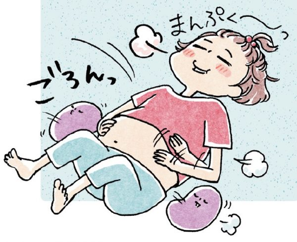 食べ過ぎ 寝る向き
