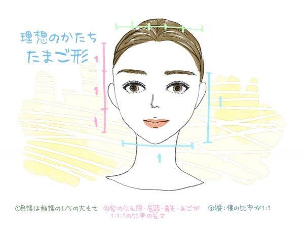 顔型イラスト1