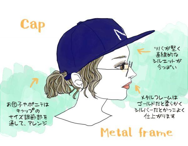 帽子メガネ3