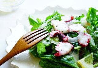 和えるだけ…おうちデートの簡単おつまみ『ルッコラとタコのサラダ』