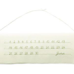 """1日ごとに数字を""""ほどく""""! 刺繍カレンダーの儚い美しさ"""