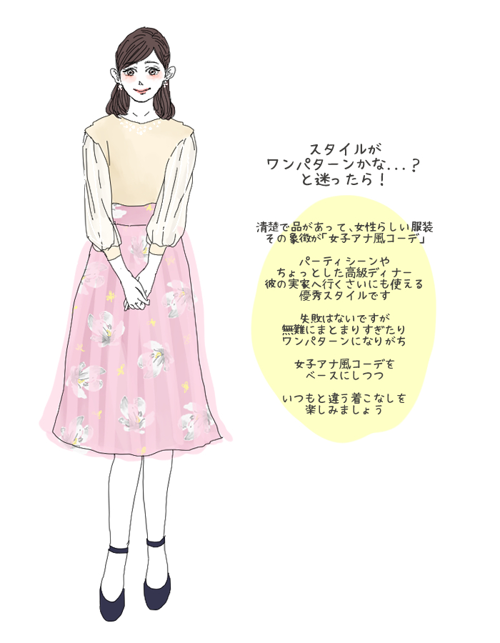 女子アナ風コーデ1