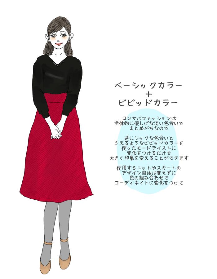 女子アナ風コーデ2