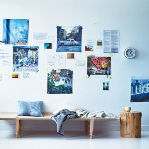 部屋の壁をかっこよく、いろどりたい! 専門家「グラフィックの要素を」