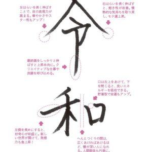 右はらいを伸ばしモテ運上昇! 運を引き寄せる「令和」の書き方
