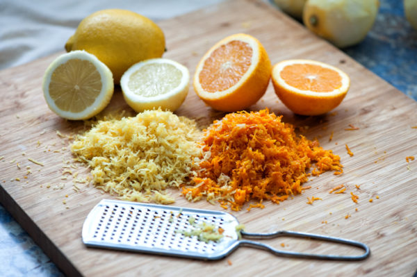 lemon and orange zest