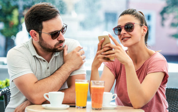 Bad relationships. Couple at the meeting having problem in communication