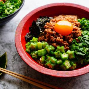 豚ひき肉の節約レシピ!…ネバネバ食材もたっぷりオン「簡単まぜそば」