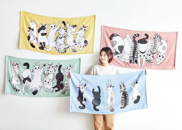 フェリシモ猫部「漫画家 山野りんりんさんとつくった 遊びにきたにゃ ふんわりバスタオルの会」