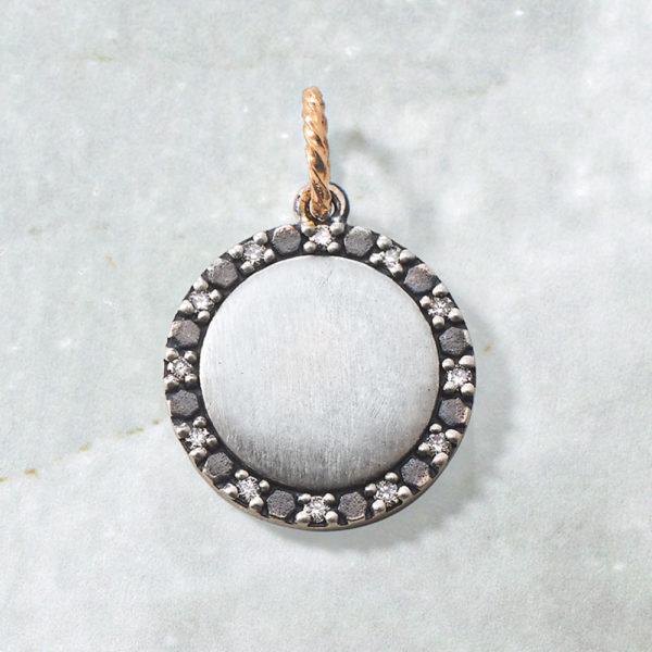 チャーム【新月】(SV×K10×ダイヤモンド)¥17,000