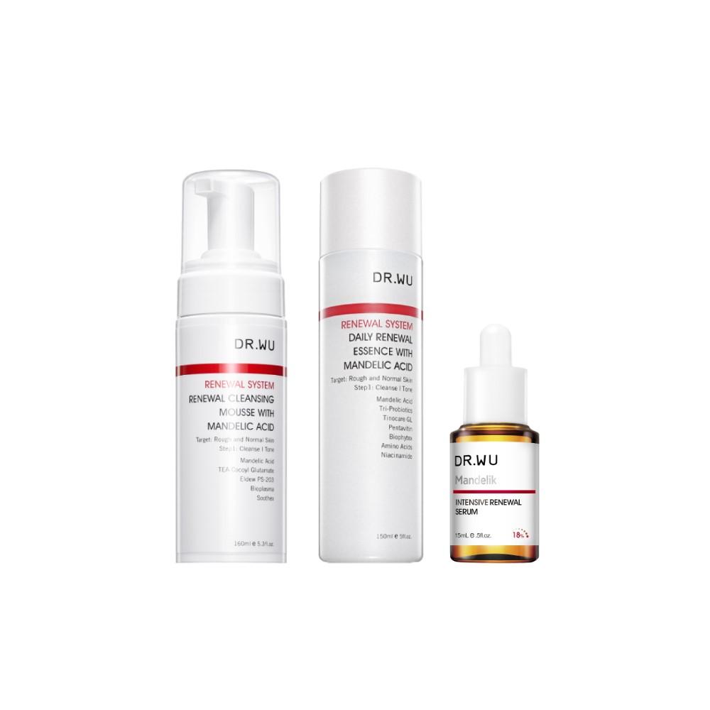 DR.WU「マンデル酸スペシャルケア3点セット(洗顔、美容液、化粧水)」