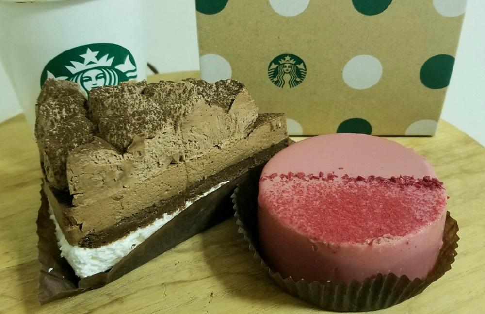 スタバ ルビーチョコレートケーキ クラシックチョコレート カフェベロナ バレンタイン