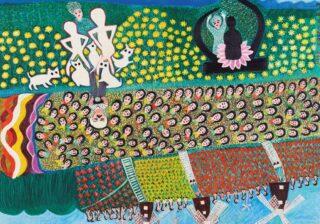 「私にはこがん見えるったい」 自由に描く楽しさ溢れる『塔本シスコ展』