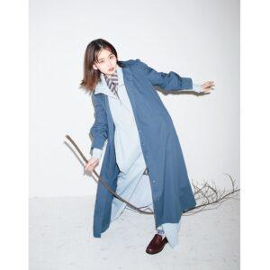 """山田杏奈が""""レイヤードスタイル""""に挑戦 シャツドレスをアウターに!"""