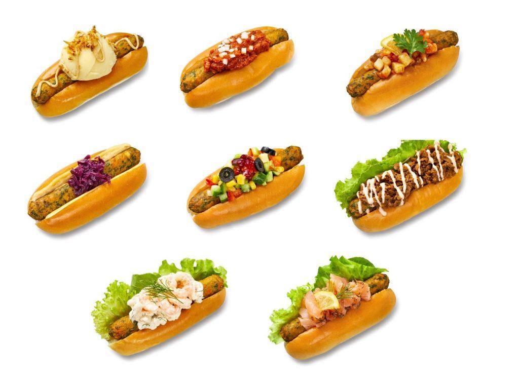 【IKEA】IKEA渋谷ベジドッグ8種 ウプサラ マッシュポテトベジドッグ、カルマル チリコンカンベジドッグ、マルメ シーズナルサルサベジドッグ(りんご)、イスタード ノルディックチーズベジドッグ、カリックス チョップドサラダベジドッグ、ストックホルム ケバブベジドッグ、ヨーテボリ シュリンプディルマヨベジドッグ、ラップランド サーモンベジドッグ