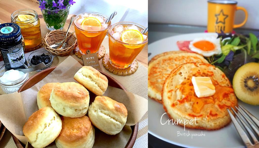 【SnapDish】おやつにも朝食にもぴったりの「スコーン」合わせるのはもちろん紅茶。、 イーストでもちもち食感が楽しい、卵不使用の「クランペット」
