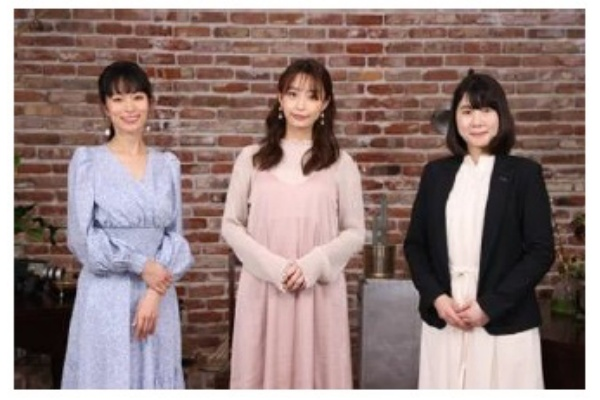 フリーアナウンサーの宇垣美里さん、美容家の岡本静香さん、資生堂アクアレーベルグループの須貝展子さん